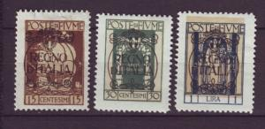 J19360 Jlstamps 1924 fiume mh #186,189,192 ovpt