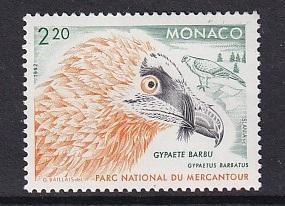 Monaco  #1830    MNH  1992  birds  lammergeier