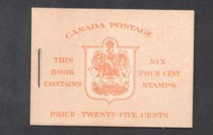 Canada 1950 Bk 41a English 287b cpl booklet mint NH