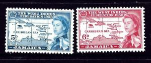 Jamaica 176-77 MNH 1958 issues