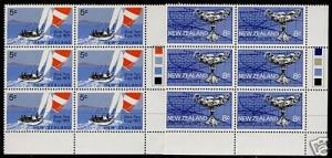 New Zealand 471-2 Color Blocks of 6 MNH Yacht Racing, One Ton Cup