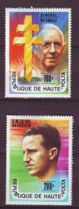 J15537 JLstamps 1977 upper volta-burkina faso set mh #434-5 famouc person