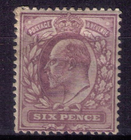 Great Britain MH Scott #135 pale dull violet (Sg 245) KEVII-F-VF Cat.$80.00