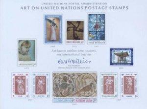 UN #2 SOUVENIR CARD - UN ART 1972 - Mint