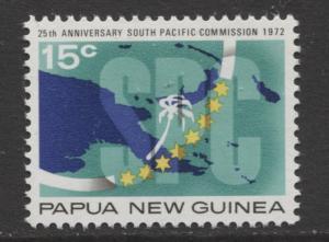 Papua New Guinea - Scott 342 -S.P Commission.-1972 - MNH- Single 15c Stamp