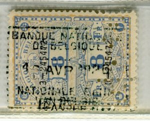 BELGIUM; Early 1900s fine used TAXES FISCALES Revenue issue used value, 8f