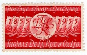 (I.B) Cinderella : De La Rue & Co - Postage Stamp Centenary (1955)