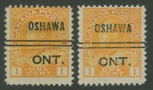 CANADA PRECANCEL OSHAWA 1-105, 1-105d