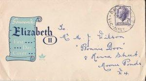 AFD1490) Australia 1957 FDC- DEFINITIVES QUEEN ELIZABETH II -ROYAL