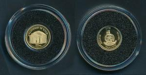 [99487] Vanuatu 2009 20 Vatu Pantheon in Rome Proof Gold 999 /  0,50 gram