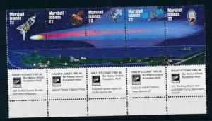 [24408] Marshall Islands 1985 Space Travel Weltraum Halley Comet MNH