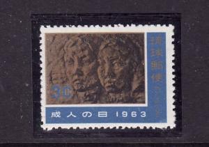 Ryukyu Islands-Sc#106-unused NH-young Man & Woman,stone reli