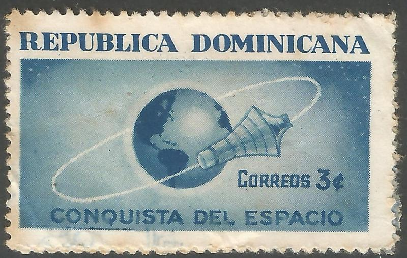 DOMINICAN REPUBLIC 600 VFU SPACE Z2279-3