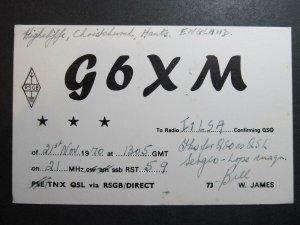 10335 Amateur Radio QSL Card HANTS ENGLAND