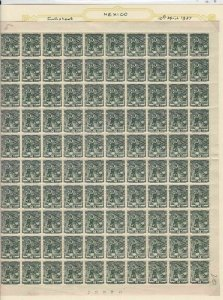mexico 1937 mint never hinged full stamps sheet ref r12709