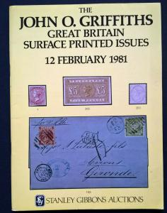 Auction Catalogue JOHN O GRIFFITHS GREAT BRITAIN SURFACE PRINTED Queen Victoria