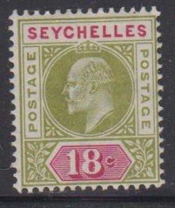 SEYCHELLES - Sc 43 / MINT HR - Edward VII