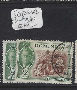 DOMINICA (PP1903B)  KGVI  2C    SG 122  X 2 SHADES   VFU