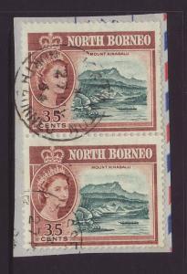 1961 North Borneo 35c x 2 On Piece Fine Used SG400