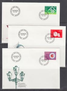 Switzerland Mi 1214/1241, 1982 issues, 6 complete sets of singles on 18 FDCs