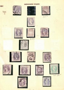 AUSTRIA NEWSPAPER STAMPS COLLECTION LOT x15 IN MOUNTS OG LH L/M USED
