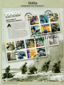 US SP1259E Celebrate the Century 3186 Souvenir Page FDC