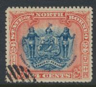 North Borneo SG 111 Used perf 14 see details  corrected inscription see scans