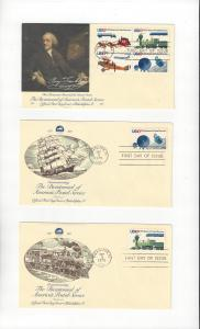 US Postal Service Bicentennial 1572-5  Fleetwood FDC 5 Covers