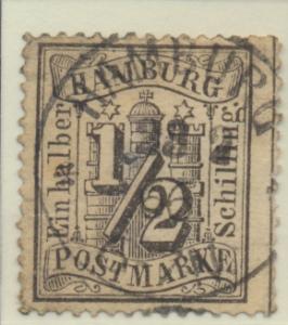 Hamburg (German State) Stamp Scott #13, Used - Free U.S. Shipping, Free World...