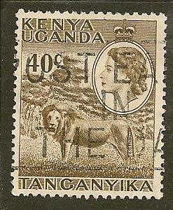 Kenya-Uganda-Tan.  Scott  109  Animal, Queen   Used