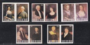 Isle of Man - Calf of Man, Local Issue -Famous Paintings, Imperf Pairs, NH