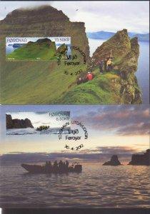 EUROPA 2012 VISIT FAROE ISLANDS FAROES DANMARK SHIP 2 MAXICARD s MAXIMUM R1511