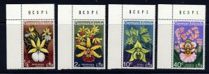 CAYMAN ISLANDS QE II 1971 The Orchids Set SG 298 to SG 301 MNH