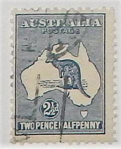 Australia 4. 1913 2 1/2p Dark blue, used