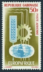 Gabon C21,MNH.Michel 202. EUROPAFRICA-1964.Agriculture,Industry.