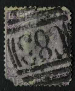 GREAT BRITAIN STAMP USED IN BRAZIL - 6 P QUEEN VICTORIA PLATE 9 CORNER FAULT