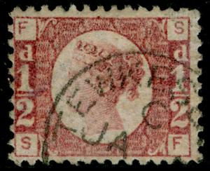 SG48, ½d rose-red plate 3, FINE USED, CDS. Cat £50. SF