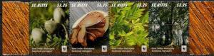 St Kitts 2016 flora wwf 4v MNH