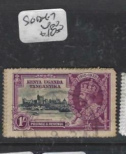 KENYA, UGANDA, TANGANYIKA   (P3105B)  KGV SILVER WEDDING  SGG 134-7   VFU