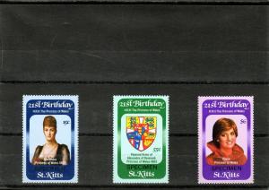 St. Kitts 1982 Sc#93-5 Diana 21st Birthday Set SPECIMEN MNH