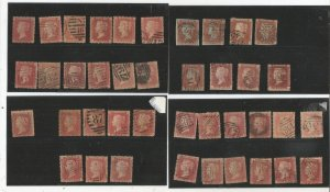 GREAT BRITAIN 1800'S PENNY RED COLLECTION