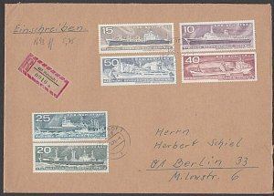 EAST GERMANY 1971 Registered cover - Nice franking - ships etc..............B690