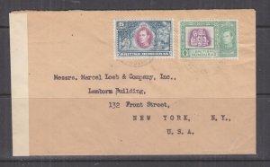 BRITISH HONDURAS, c1942 Censored cover1c. & 5c., Belize to USA.