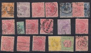 Australia Victoria QV 1899/1901 Collection of 19 Values FU J712