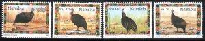 Namibia - 1997 Christmas Guineafowl Set & MS MNH** SG 744-748