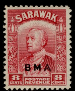 SARAWAK GVI SG132, 8c carmine, M MINT.