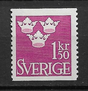 1951 Sweden Sc431 Three Crowns 1.50Kr MNH
