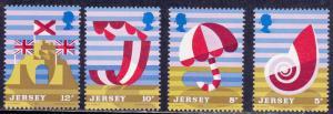 Jersey # 124-127, Tourist Publicity, Mint NH