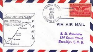 1956, 1st Flt., F14-107, Canton Island to Brooklyn, NY, See Remark (21864)