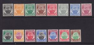 Johore Scott # 130-150 set VF OG hinged nice color cv $ 181 ! see pic !